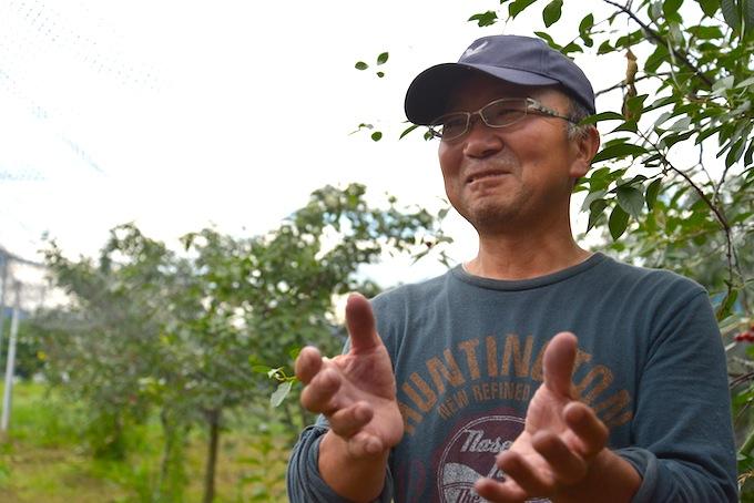 今回の収穫イベントにご協力くださった、さくらんぼ畑を管理されている小林さん