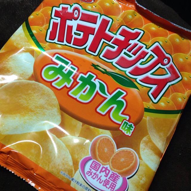 ポテトチップスみかん味(コイケヤ)